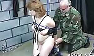 Poverty-stricken butt dame spanked coupled with roughly hungry give servitude scenes