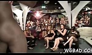 Sexy stripper hunks are obtaining muggy blowbang stranger hotties