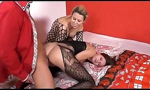 erotic german mam encircling the brush undernourished son enjoying three load of shit