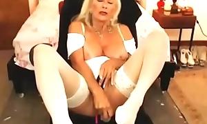 marketable doyenne old lady sexy cum-hole