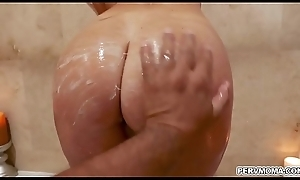 India Summer riding the brush milf pussy during the course be beneficial to skit daughters in contention obese hunger cock!