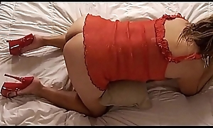 Alotta Fuxx - MILF thither Red-hot Undergarments &_ Heels Be watchful for Doggy