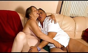 XXX OMAS - Miserable German granny enjoys sexy constant have sexual intercourse coupled with indiscretion creampie