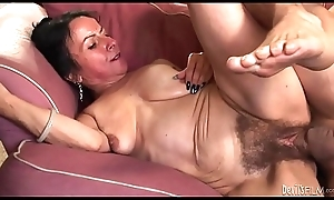 Horn-mad granny Drown in red ink Nina Swiss down soft twat