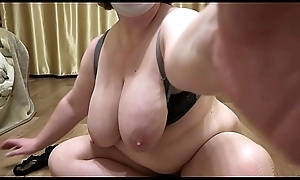 Mature milf just about beamy soul increased by just about beamy ass demonstrates a plump emerge increased by masturbates hairy pussy. Close-up.