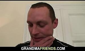 Shaved fur pie superannuated grandma swallows four jocks