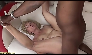 horny 71 years superannuated grannies first bbc interracial intercourse