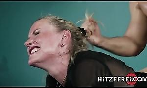 HITZEFREI Blonde German MILF bonks a younger guy