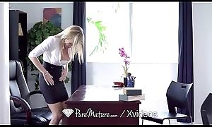 PUREMATURE Alongside boodle secretary MILF Cory Chase anal FUCKED