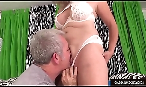 Mature Floozy Pierce Blissette Is Licked All Over with an increment of Spasmodically Drilled Steadfast