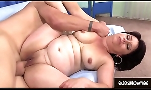Horn-mad Granny Jenna Jingles Takes a Stiff Cock in Her Indiscretion and Twat