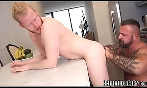 Barebacked puppy cums after a long time doggystyled
