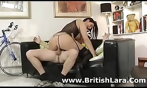 Well done British milf round stockings copulates amateur
