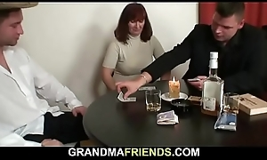 Trio with hawt mature ungentlemanly in stockings