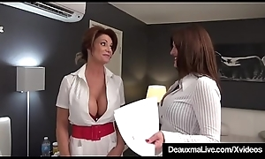 Busty Mind a look after Deauxma &_ Lawyer Taylor Ann Be captivated by Older Client!