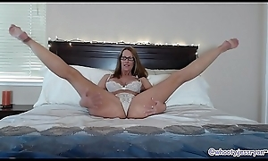 Beautiful Adult In Bed Sucks plus Rides Heavy Sting Dildo