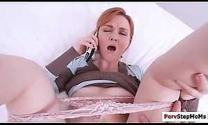 Lickerish stepson destroys sexy stepmoms pussy