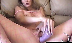 Sexy Housewife Shanda Fay Fucks Sex tool Involving Fishnet BodyStocking