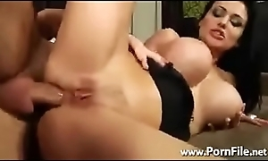 Fat boobed succeed in fucked abiding