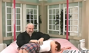 Extreme subjection videotape on touching cutie obeying the messy decree
