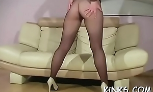 Skinny benefactor flaunts soft wet crack and feet far honour pantyhose