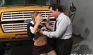 Sinless schoolgirl gets cum-hole fingered and screwed deep