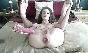 Wild camgirl far big naturals proudly shows the brush gaped asshole