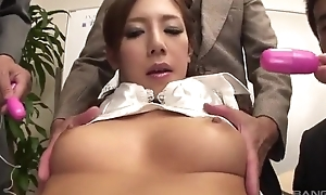 Lubricious Japanese daughter gets fucked constant in the rendezvous