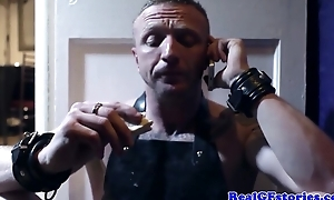 Juggy English mistress receives anal from the brush cocky slave