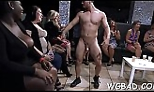 Lascivious banging session roughly blue leading lady stripper